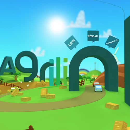 animation 3d agrilink highfive