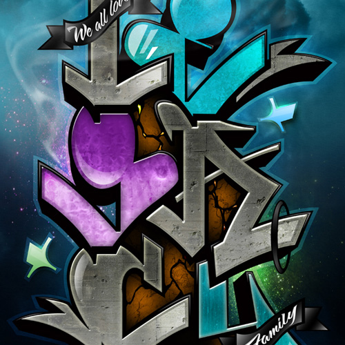 legacy graffiti illustration