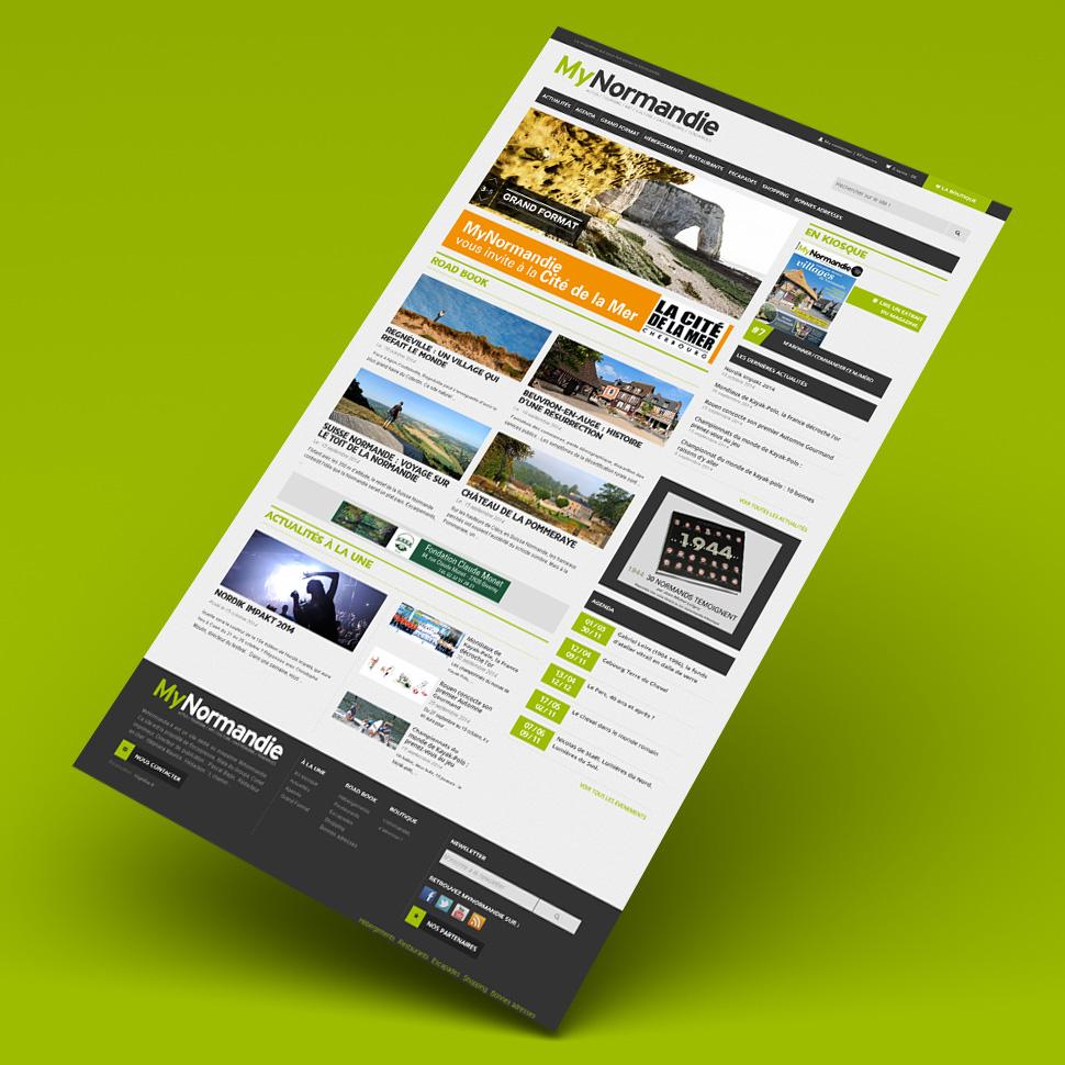 site portail responsive Mynormandie