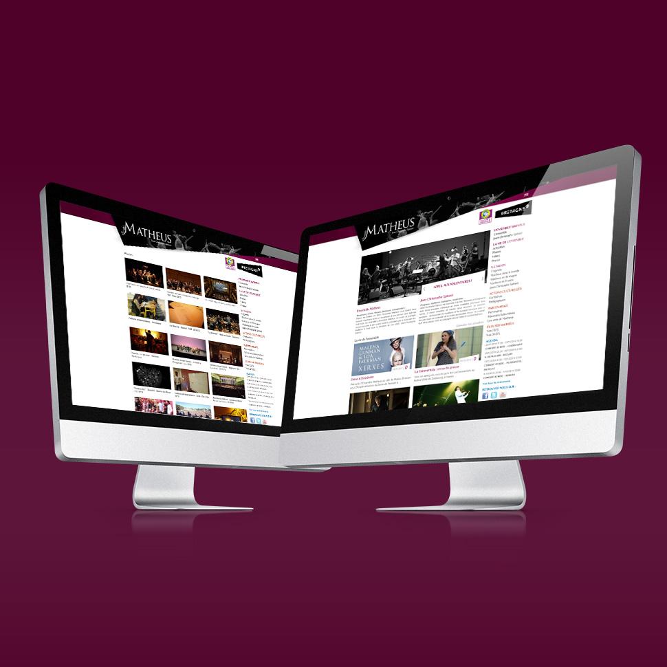 site internet et application mobile de l'ensemble matheus