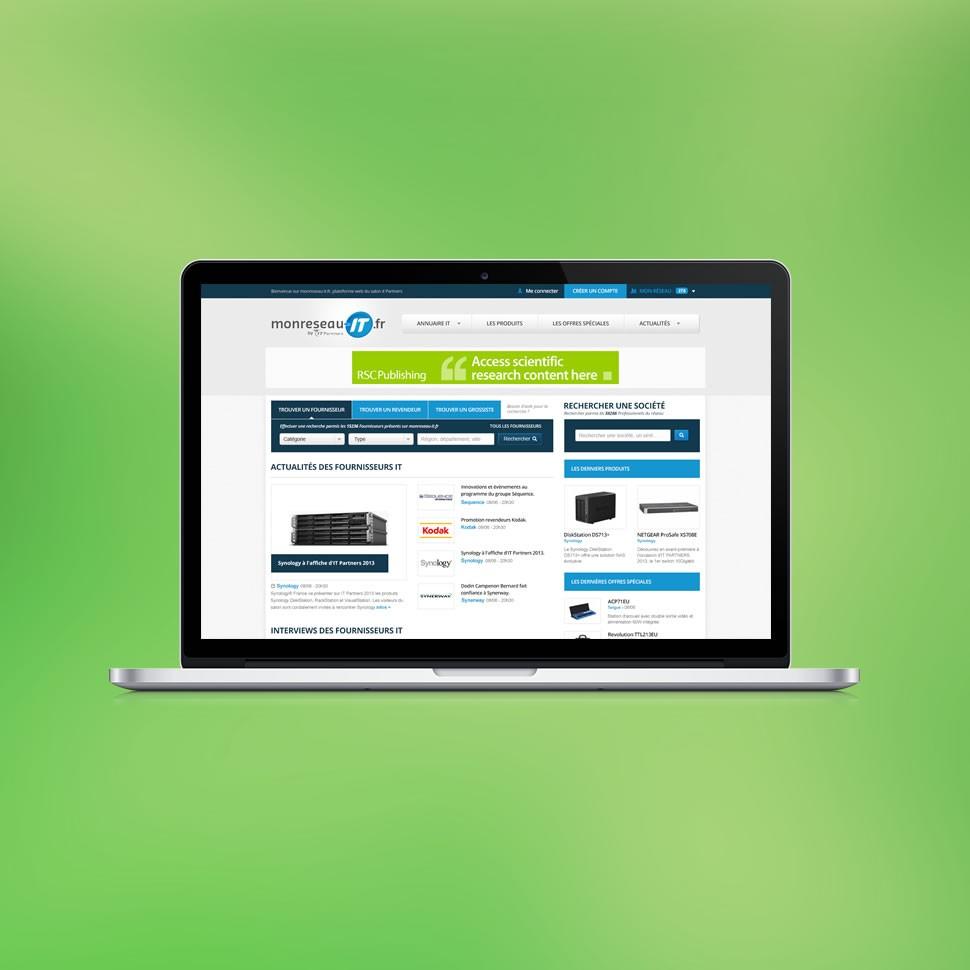 Site internet et logotype mon reseau IT