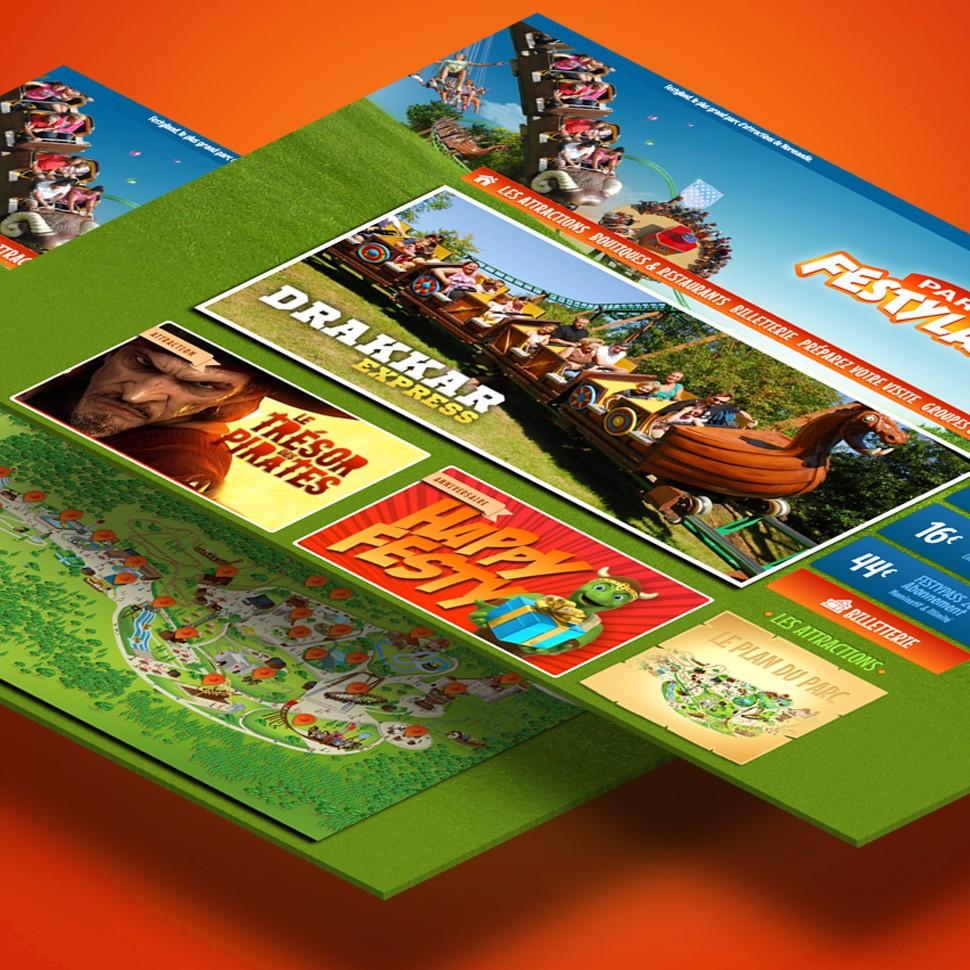 Parc Festyland site internet et application mobile